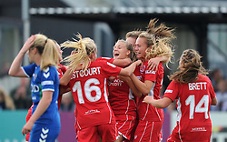 Bristol City Women celebrate Olivia Fergusson's goal - Mandatory by-line: Paul Knight/JMP - 24/09/2016 - FOOTBALL - Stoke Gifford Stadium - Bristol, England - Bristol City Women v Durham Ladies - FA Women's Super League 2