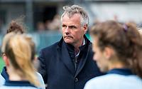 BLOEMENDAAL - coach Donald Drost (Laren) na   hockey hoofdklasse competitiewedstrijd dames, Bloemendaal-Laren (1-3) .   COPYRIGHT KOEN SUYK