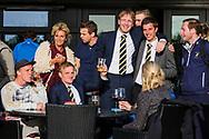 17-05-2015 NGF Competitie 2015, Hoofdklasse Heren - Dames Standaard - Finale, Golfsocieteit De Lage Vuursche, Den Dolder, Nederland. 17 mei. Heren Houtrak: Team , na de overwinning.