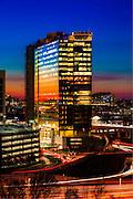 deloitte headquarters in McLean Virginia at sunset