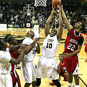 Central Florida forward Dwight McCombs (10) drives to the net at the UCF Arena on December 15, 2010 in Orlando, Florida. UCF won the game79-58. (AP Photo/Alex Menendez)
