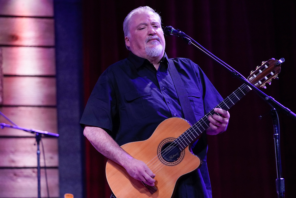 NASHVILLE, TENNESSEE - FEBRUARY 08: David Hidalgo of Los Lobos performs at City Winery Nashville on February 08, 2020 in Nashville, Tennessee. (Photo by Mickey Bernal/Getty Images)