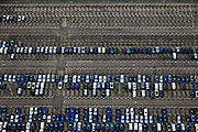 Nederland, Limburg, Gemeente Sittard-Geleen, 15-11-2010; Born, parkeerterrein fabriek Nedcar ..Parking of the Nedcar plant..luchtfoto (toeslag), aerial photo (additional fee required).copyright foto/photo Siebe Swart