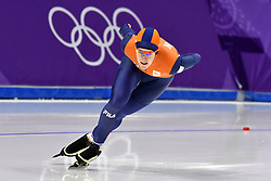 12-02-2018 ALGEMEEN: MEDAL PLAZA OLYMPISCHE SPELEN: OLYMPIC GAMES: PEYONGCHANG 2018<br /> Ireen Wust (JustLease.nl) wint Olympisch goud op de 1500 meter<br /> Foto: Sander Chamid