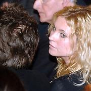 NLD/Amsterdam/20070304 - Modeshow Frans Molenaar voorjaar 2007, Annelieke Bouwers en partner Cas Jansen