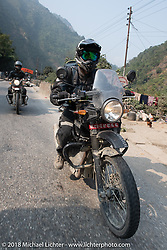 Sean Lichter on day-9 of our Himalayan Heroes adventure riding from Pokhara to Nuwakot, Nepal. Wednesday, November 14, 2018. Photography ©2018 Michael Lichter.