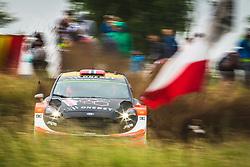 June 30, 2017 - Mikolajki, Poland - Norwegian rally driver MADS OSTBERG gets his car sideways during the Rally Poland 2017. (Credit Image: © Panoramic via ZUMA Press)