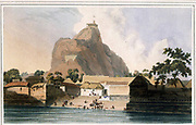 View In The Fort Of Tritchinopoly 1792 From the book ' Oriental scenery: one hundred and fifty views of the architecture, antiquities and landscape scenery of Hindoostan ' by Thomas Daniell, and William Daniell, Published in London by the Authors July 1, 1812