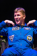 British Astronaut Tim Peake on stage after receiving an Honorary Doctorate of Science Degree from the University of Portsmouth at the Guildhall in the city.<br /> Earlier, Tim spent the day at the UK Space Agency Schools Conference hosted by the University.<br /> The conference celebrated the work of over a million UK school students inspired by Peake's Principia mission, which saw the flight dynamics and evaluation graduate spend more than six months on board the International Space Station.<br /> Youngsters had the chance to present their work through talks and exhibitions to experts from the UK Space Agency, European Space Agency (ESA), partner organisations and the space sector. Most also had the chance to meet Tim.<br /> Picture date Wednesday 2nd November, 2016.<br /> Picture by Christopher Ison for the University of Portsmouth.<br /> Contact +447544 044177 <br /> chris@christopherison.com