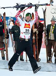18.12.2010, Saslong, Groeden, ITA, FIS World Cup Ski Alpin, Men, Downhill, im Bild am Podium Romed Baumann (AUT, #26) Platz 2 . EXPA Pictures © 2010, PhotoCredit: EXPA/ J. Groder