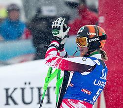 29.12.2014, Hohe Mut, Kühtai, AUT, FIS Ski Weltcup, Kühtai, Slalom, Damen, 2. Durchgang, im Bild Nicole Hosp (AUT) // Nicole Hosp of Austria reacts after 2nd run of Ladies Giant Slalom of the Kuehtai FIS Ski Alpine World Cup at the Hohe Mut Course in Kuehtai, Austria on 2014/12/29. EXPA Pictures © 2014, PhotoCredit: EXPA/ JFK
