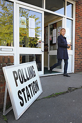 © Licensed to London News Pictures. 07/05/2015<br /> General Election polling day. Voters go to the polls today (07.05.2015).<br /> Polling station at Christ Church Centre,Kingswood Avenue,Swanley,Kent.<br /> (Byline:Grant Falvey/LNP)