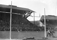 H903<br /> Aonach Tailteann Athletics - Croke Park. Osborne in high jump. August 16 1928. (Part of the Independent Newspapers Ireland/NLI Collection)