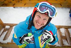 Andrej Jerman during last race of Slovenian best downhill skier when he finished his professional alpine ski career on April 6, 2013 in Krvavec Ski resort, Slovenia. (Photo By Vid Ponikvar / Sportida)