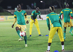 24042018 (Durban) Arrows players arm up before the game during the game of Kaizer Chiefs looking to bounce back to winning ways when taking on Golden Arrows in an Absa Premiership match at the Princess Magogo Stadium on Tuesday night (24.02.2018)<br /> Picture: Motshwari Mofokeng/ANA