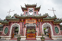 Phuoc Kien Assembly Hall, Hoi An - Phuoc Kien Assembly Hall was founded in 1690 by Fukien Chinese immigrants in Hoi An.  It contains Thien Hau goddess of the sea protector, protector of sailors. Phuoc Kien is probably the most elaborate of the assembly halls, temples and pagoda of Hoi An with more lavish and resplendent architecture, bas relief, murals, huge spiral incense coils, and large dragons.
