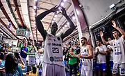 Dwight Coleby, Commando Ultra' Dinamo<br /> Banco di Sardegna Dinamo Sassari - Unet Hapoel Holon<br /> FIBA BCL Basketball Champions League 2019-20<br /> Sassari, 28/01/2020<br /> Foto L.Canu / Ciamillo-Castoria