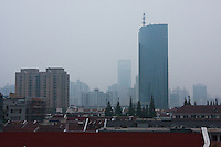 early morning mist in Shanghai China