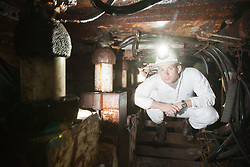 Sun features Nick Francis at the Mine Rescue Service at Crossgates Training Centre, Crossgates, Fife..Pic © Michael Schofield.