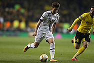 Son Heung-Min of Tottenham Hotspur in action. UEFA Europa League round of 16, 2nd leg match, Tottenham Hotspur v Borussia Dortmund at White Hart Lane in London on Thursday 17th March 2016<br /> pic by John Patrick Fletcher, Andrew Orchard sports photography.