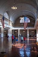 NEW YORK  2020V10<br /> Registreringsrummet på Ellis Island.<br /> <br /> Foto: Per Danielsson/Projekt.P