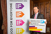 Andrew George MP.supporting the Enough Food for Everyone?IF campaign. .MP's and Peers attended the parliamentary launch of the IF campaign in the State Rooms of Speakers House, Palace of Westminster. London, UK.
