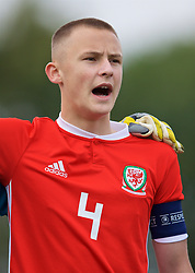 WREXHAM, WALES - Wednesday, October 30, 2019: Wales' captain Zak Williams lines-up before the 2019 Victory Shield match between Wales and Republic of Ireland at Colliers Park. (Pic by David Rawcliffe/Propaganda)