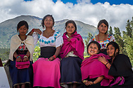 A group of six young Kichwa women at the Kapak Rayme Celebration Dec, 2017