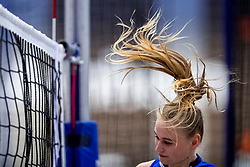 03-02-2018 NED: Talent Team - Sliedrecht Sport, Arnhem<br /> Sliedrecht Sport een zwaar bevochten 3-2 overwinning mee naar huis / Christie Wolt #1 of Sliedrecht Sport