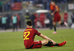 December 5, 2017 - Rome, Italy - Roma s Stephan El Shaarawy sits on the pitch during the Champions League Group C soccer match between Roma and Qarabag at the Olympic stadium. Roma won 1-0 to reach the round of 16. (Credit Image: © Riccardo De Luca/Pacific Press via ZUMA Wire)