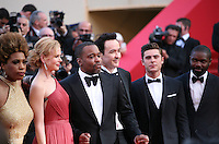 Macy Gray, Lee Daniels, John Cusack, Zac Efron, David Oyelowo at The Paperboy gala screening red carpet at the 65th Cannes Film Festival France. Thursday 24th May 2012 in Cannes Film Festival, France.