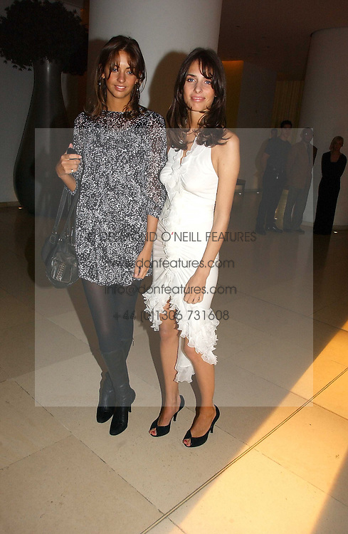 Left to right, sisters ROSE HANBURY and MARINA HANBURY at a Burns Night dinner in aid of CLIC Sargent and Children's Hospice Association Scotland held at St.Martin's Lane Hotel, St.Martin's Lane, London on 25th January 2007.<br /><br />NON EXCLUSIVE - WORLD RIGHTS
