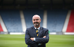 New Scotland manager Steve Clarke during the press conference at Hampden Park, Glasgow.