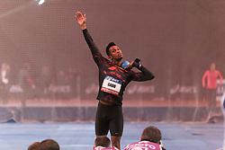 February 7, 2018 - Paris, Ile-de-France, France - Ruben Gado of France competes in shot put triathlon during the Athletics Indoor Meeting of Paris 2018, at AccorHotels Arena (Bercy) in Paris, France on February 7, 2018. (Credit Image: © Michel Stoupak/NurPhoto via ZUMA Press)