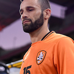 BRISBANE, AUSTRALIA - JANUARY 31: Arana of the Roar walks out during the second qualifying round of the Asian Champions League match between the Brisbane Roar and Global FC at Suncorp Stadium on January 31, 2017 in Brisbane, Australia. (Photo by Patrick Kearney/Brisbane Roar)