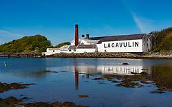 Exterior view of Lagavulin scotch whisky distillery at Kildalton on Islay , Inner Hebrides , Scotland, UK