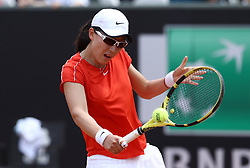May 13, 2019 - Rome, Italy - Saisai Zheng (CHN) during the WTA Internazionali d'Italia BNL first round match at Foro Italico in Rome, Italy on May 13, 2019. (Credit Image: © Matteo Ciambelli/NurPhoto via ZUMA Press)