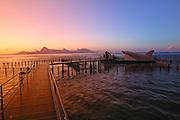 Lagoonarium at Captain Bligh's Restaurant, Island of Tahiti, French Polynesia<br />