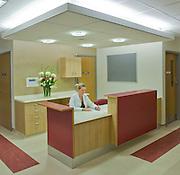 doctor sitting at hospital desk