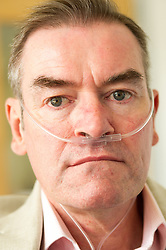 A Pneumoconiosis victim at the Breathing Centre, Rotherham
