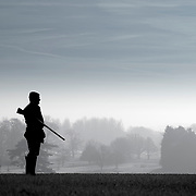 The Landowner, A silhouette of an estate land owner.