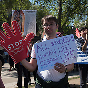 Thousands Pro-Life rally against abortions protect the rights on the unborn on 5 May 2018 at Parliament Square, London, UK