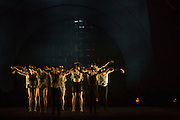 "Les Ballets Jazz de Montréal at the beginning of Wen Wei Wang's ""Night Box"", choreographed for Les Ballets Jazz de Montréal."