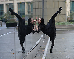 Pictured: Natalia performs scenes from the ballet.<br /> <br /> Principal dancer with the Royal Ballet, Natalia Osipova, appeared outside the EICC in Edinburgh to promote the up coming world premiere of Hans Christian Andersen's 'The Mother' at the EICC on 21st and 22nd December.<br /> <br /> © Dave Johnston / EEm