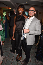 Lorraine Pascale and Dennis at the Fortnum & Mason Food and Drink Awards, Fortnum & Mason Food and Drink Awards, London, England. 10 May 2018.