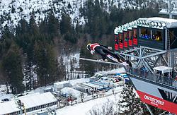 02.02.2019, Heini Klopfer Skiflugschanze, Oberstdorf, GER, FIS Weltcup Skiflug, Oberstdorf, Training, im Bild Evgeniy Klimov (RUS) // Evgeniy Klimov of Russian Federation during his Practice Jump of FIS Ski Jumping World Cup at the Heini Klopfer Skiflugschanze in Oberstdorf, Germany on 2019/02/02. EXPA Pictures © 2019, PhotoCredit: EXPA/ Peter Rinderer