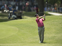 May 26, 2018 - Fort Worth, TX, USA - FORT WORTH, TX - MAY 26, 2018 - Charley Hoffman hits his approach to the 15th hole during the third round of the 2018 Fort Worth Invitational PGA at Colonial Country Club in Fort Worth, Texas (Credit Image: © Erich Schlegel via ZUMA Wire)