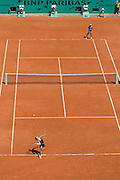 Paris, France. May 24th 2009. .Roland Garros - Tennis French Open. 1st Round..Ana Ivanovic (top) against Sara Errani..