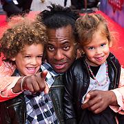 NLD/Amsterdam/20130921 - Premiere Planes, Rogier Komproe en kinderen Noa en Alfie