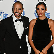 Marvin Humes and Rochelle Humes arrivers at the Global's Make Some Noise Night at Finsbury Square Marquee on 20 November 2018, London, UK.